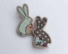 fabric rabbit brooch by honeypips   notonthehighstreet.com