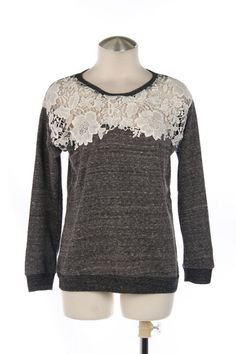 Lace Sweatshirt sold by The Wooden Hanger Boutique on Storenvy