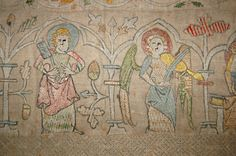 St. Thomas guild - medieval woodworking, furniture and other crafts: Some embroidered cloth from Kloster Isenhagen