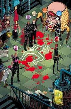 "SECRET AVENGERS #5 & 6  ALES KOT (W)  MICHAEL WALSH (A)  CoverS by TRADD MOORE  Issue 5 - ""THE DROP"" • Death on the Helicarrier. The killer is at large. Hill leads the investigation. • Another incident on board. No-one expects a proper acid bath. • Coulson goes rogue. Hawkeye wonders. Spider-Woman talks with a new friend.  Issue 6 - ""ACT TWO/THE SPEEDING REIGN OF COLLAPSE"" • Black Widow, Spider-Woman and Hawkeye go after Lady Bullseye and Artaud Derrida.  32 PGS. (EACH)/Rated T+ …$3.99…"