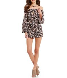 Moa Moa Off-The-Shoulder Floral Printed Romper #Dillards