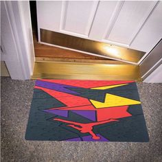 NIKE JORDAN 7 VII BLACK YELLOW PURPLE RED RAPTOR BEDROOM CARPET BATH OR DOORMATS