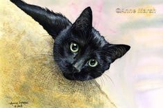BLACK CAT WHAT'S GOING ON LIMITED EDITION PRINT OF PAINTING ANNE MARSH ART | eBay