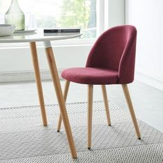 MACARON dining chair – Red Fabric – Scandinavian – L 50 x D 50 cm – Sell / Sell chair – Cdiscount Source by cdiscount
