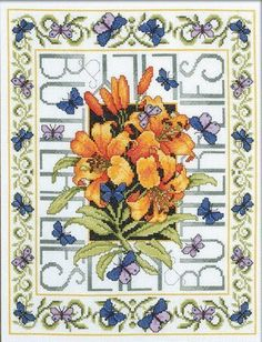 Vlinders - Cross Stitch Kit