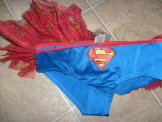 DC COMIC SUPERGIRL SUPERMAN HIPSTER TUTU BRIEFS SIZE MEDIUM HALLOWEEN COSTUME…