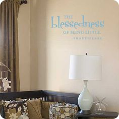 The blessedness of being little!  (site for other wall printables, too...)