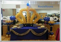 royal crown baby shower | CatchMyParty.com
