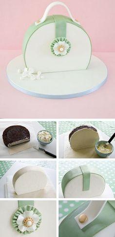 Como Fazer hum bolo de bolsa #purse #cake #tutorial…