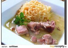 Slepice na špeku (slanině) recept - TopRecepty.cz Beef, Chicken, Food, Red Peppers, Meal, Essen, Hoods, Ox, Meals