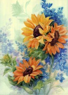 Orange Sunflowers - Artist Unknown