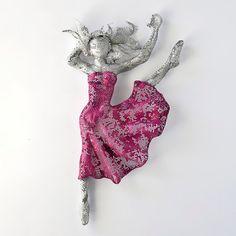 Ballet dancer  - Metal art sculpture - wire mesh Sculpture - home decor - Contemporary art - wall hanging