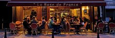 """La Rose De France--24 Place Dauphine, on the Ile de la Cite in Pl. Daphine; 01 43 54 10 12--Nice, romantic atmosphere with very pleasant staff and good food. Member """"Mâitres Restaurateur"""" (which means the food is guaranteed fresh and prepared onsite)."""