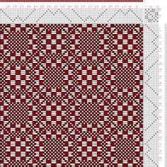 Hand Weaving Draft: Threading Draft from Divisional Profile, Tieup: A Handbook…