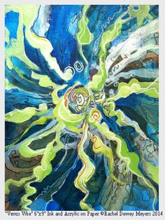 Absrtact modern sea life painting of underwater ocean on Etsy, $30.00