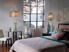 Globe And Round Light Fixture Hanging Lights For Bedroom