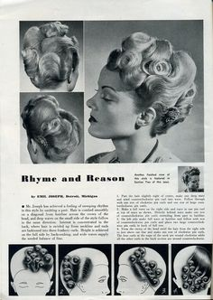 Vintage Hairstyles Beauty is a thing of the past: Rhyme and Reason - Women haircuts asian women hair color red natural,women hair color red pixie haircuts women hair designs nape undercut,current hairstyles for women afro hair weave. Vintage Hairstyles Tutorial, 1940s Hairstyles, Casual Hairstyles, Layered Hairstyles, Hairstyles 2016, Everyday Hairstyles, Summer Hairstyles, Historical Hairstyles, Retro Updo