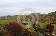 An autumn landscape with Buda mountains