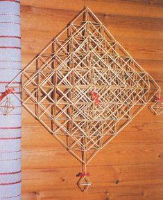 Himmeli Handmade Ornaments, Diy Paper, Diy And Crafts, Bamboo, Christmas, Xmas, Navidad, Noel, Natal