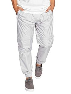 Men's Wind Jammer Pants -- For more information, visit image link. (This is an affiliate link) Parachute Pants, Elastic Waist, Image Link, Sweatpants, Grey, Stuff To Buy, Clothes, Fashion, Gray
