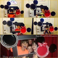 Mickey/Minnie photo booth from our #DisneySide @ Home Celebration #DisneyParks #MomSelect