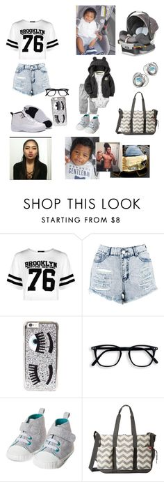"""Going to meet his Fam -Princess"" by trill-queen23 ❤ liked on Polyvore featuring beauty, Boohoo, Chiara Ferragni, CHICCO and Skip Hop"