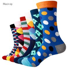Hot Sale - 6 Pairs Of Colorful Combed Cotton Socks //Price: $22.25 & FREE Shipping //     #ChicBay.com