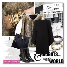 """""""Lizzy James"""" by aida-nurkovic ❤ liked on Polyvore featuring Lizzy James, Chicwish, Michael Kors, Valentino, Salvatore Ferragamo and lizzyjames"""