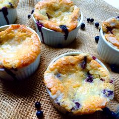 Individual Blueberry Cobbler