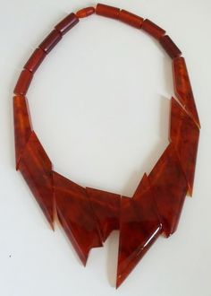 Tortoise bakelite necklace