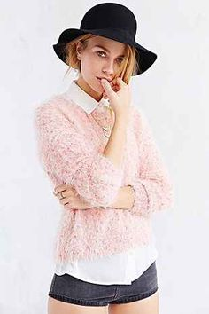 Kimchi Blue Fuzzy Dot Sweater - Urban Outfitters