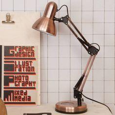 Copper Hobby Desk Lamp