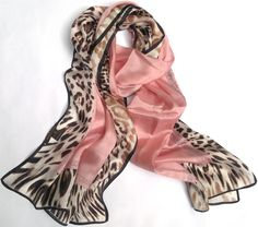 Cavalli silk scarf in leopard and pink Leopard Scarf, Pink Leopard, Snow Leopard, Animal Print Scarf, Animal Prints, Pink Brown, Silk Scarves, Girly Things, Sexy