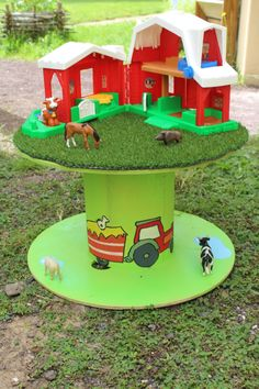 cable reel table for children