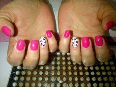 #gel #nailtrends #pink  #leopard #print