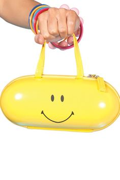 Buy YELLOW HAPPY PILL PURSE,New womens fashion purses & handbags are great additions to the wardrobe of the fashion forward woman. Our women latest fashion purses & handbags are designed in the trendiest styles of the season. Emoji, Leg Avenue Costumes, Costume Bags, Smiley Happy, Yellow Purses, Happy Pills, Purse Styles, Rave Wear, Mellow Yellow