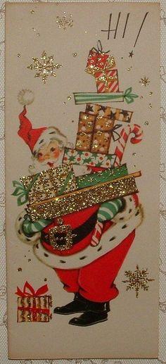 Christmas-Santa with presents