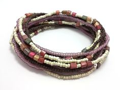 Check out this item in my Etsy shop https://www.etsy.com/listing/214543741/seed-bead-wrap-stretch-bracelets