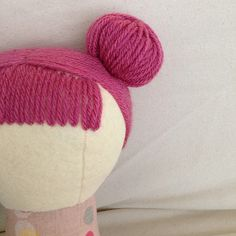 How to make a yarn hair bun for a doll