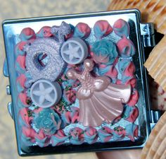 ORIGINAL Painting lowbrow art big eye gothic by SideShowCouture, $6.00 sweet lolita pocket mirror  decora
