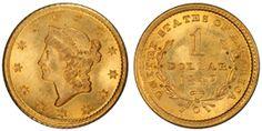 1849 $1 Liberty Head ☆ Více informací o výstavě Flowing Hair naleznete na oficiální stránce http://www.flowing-hair.cz/