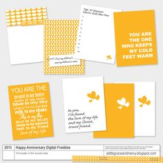free printable A Little Grace and Mercy: Project Life   Happy Anniversary Digital Freebie Kit