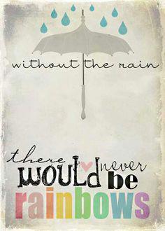 I love the rain as well as the rainbows...