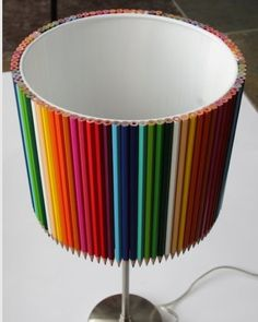 Colored Pencil Lamp Shade by LampShadeCentral on Etsy