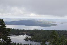 View from Slåttdalsskrevan, Skuleskogen National Park, Höga Kusten (High Coast), Västernorrland, Sweden