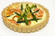Smoked Salmon and Asparagus Tartlets Best Asparagus Recipe, Asparagus Tart, Salmon And Asparagus, Easy Pastry Recipes, A Food, Good Food, Smoked Salmon Recipes, Recipe Images, Family Meals