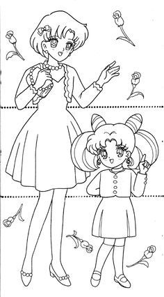 Sailor Moon Coloring Pages, Coloring Pages For Girls, Cool Coloring Pages, Coloring Sheets, Coloring Books, Drawing Sketches, Drawings, Anime, Magical Girl