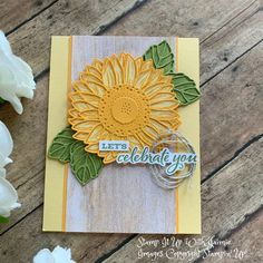Sunflower Cards, Hand Stamped Cards, Fall Cards, Card Maker, Stamping Up, Homemade Cards, Stampin Up Cards, I Card, Birthday Cards