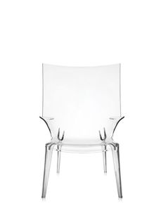 Uncle Jim Armchair - Kartell Presents Uncle Jack, The Revolutionary Single Mould Transparent Polycarbonate Sofa Signed By Philippe Starck. It Comes In Five Different Colours – Crystal, Orange, Blue, Smoke And Green And Is 190 Cm Long In a Single Block Weighing 30 Kg. Uncle Jack Is The Most Daring Example In The World Of Injection Moulding Technology. The Uncle Collection Designed By Philippe Starck Adds The Uncle Jim Armchair, Which Also Comes In Five Different Shades – Crystal, Blue…