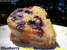 The freshest flavors of the summer season come together in this delightful Blueberry Lemon Buttermilk Cake! Easy to prepare and oh so good! Fun Desserts, Delicious Desserts, Dessert Recipes, Cake Recipes, Lemon Desserts, Lemon Recipes, Buttermilk Recipes, Blueberry Breakfast, Breakfast Cake